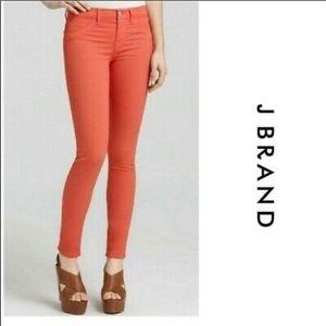 J BRAND | Tangerine Ankle Skinny Crop Jean Capris